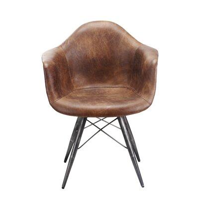 Kasandra Arm Chair Color: Light Brown
