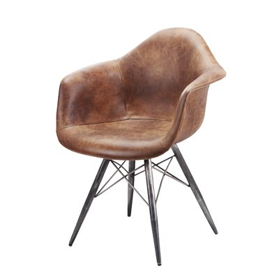 Kasandra Arm Chair Upholstery: Light Brown