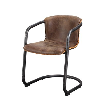 Benedict Genuine Leather Upholstered Dining Chair