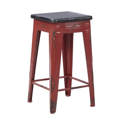 Mila 26 Bar Stool Frame Finish: Red