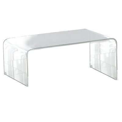 Bridgehampton Coffee Table Color: Clear