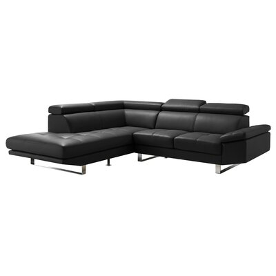 Marla Sectional Upholstery: Black, Orientation: Left Hand Facing