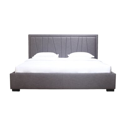 Hempel King Upholstered Panel Storage Bed