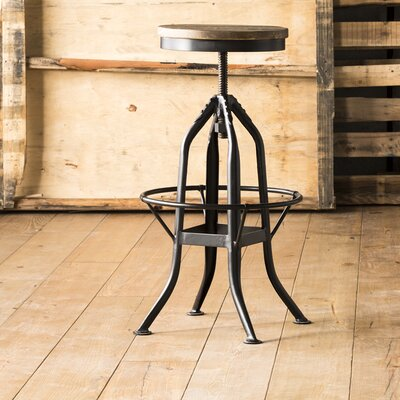 Benedita Adjustable Height Swivel Bar Stool