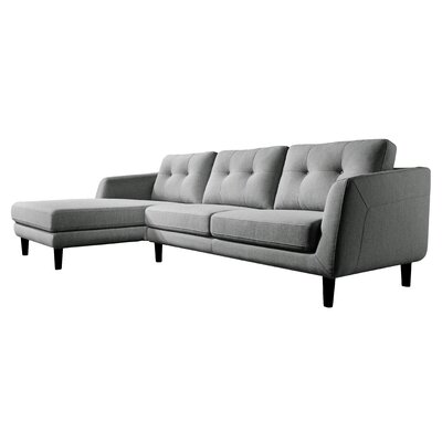 Harold Sectional Upholstery: Dark Gray, Orientation: Right Hand Racing