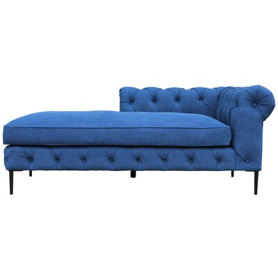 Izzie Chaise Lounge Upholstery: Blue