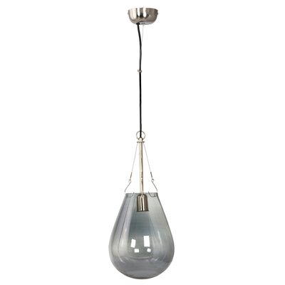Canter Raindrop 1-Light Pendant Shade Color: Blue, Size: Small