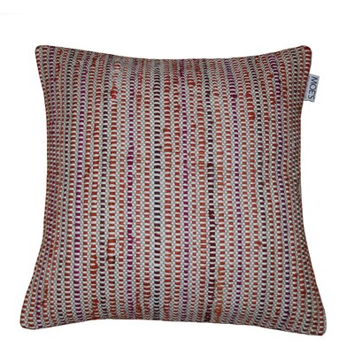 Brielle Cotton Throw Pillow Color: Red