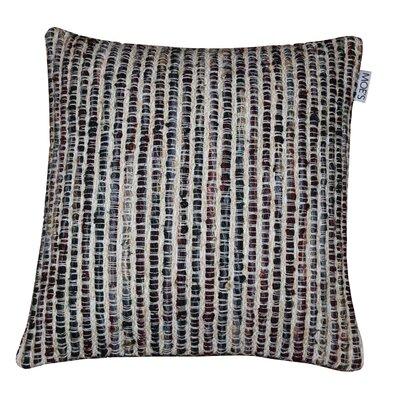 Brielle Cotton Throw Pillow Color: Black