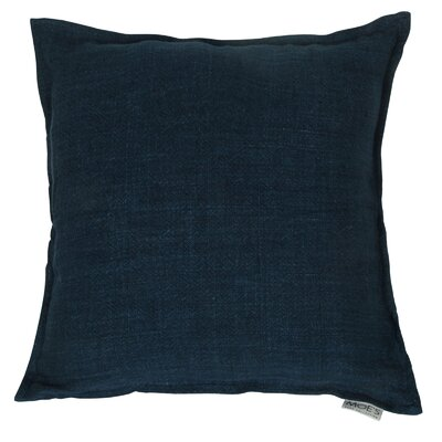 Rory Lemmy Linen Throw Pillow Color: Blue