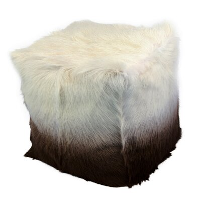 Beringer Fur Pouf Upholstery: Cappuccino
