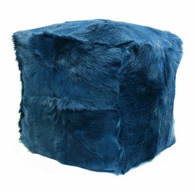 Beringer Fur Ottoman Upholstery: Navy