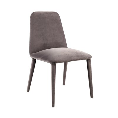 Contreras Upholstered Dining Chair Upholstery: Charcoal
