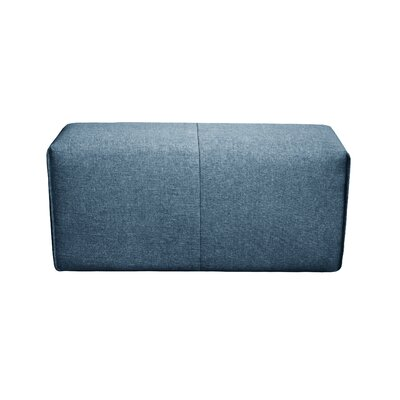 Rembert Wood Framed Ottoman Upholstery: Dark Blue