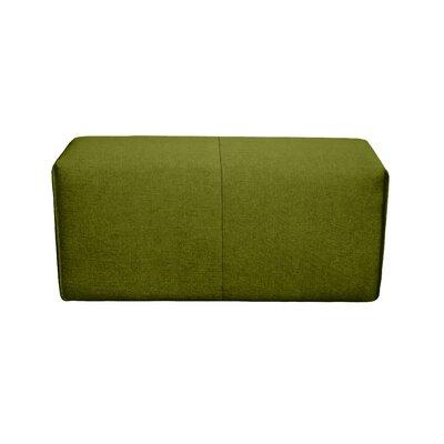 Rembert Wood Framed Ottoman Upholstery: Green