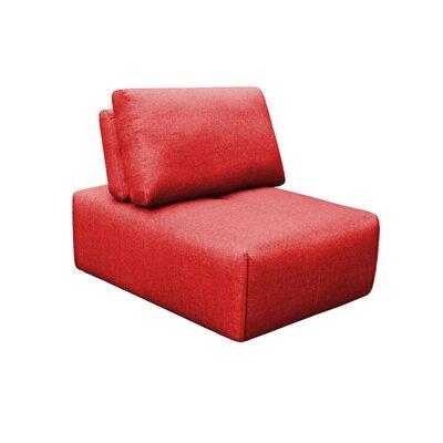 Rembert Slipper Ottoman Upholstery: Red