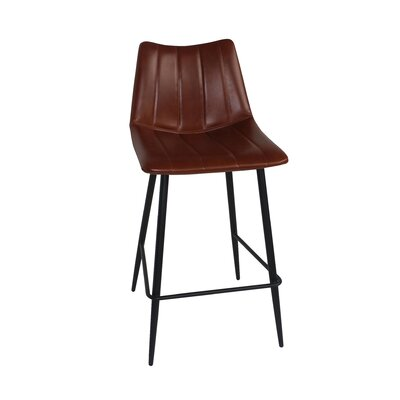 Markie 26 Bar Stool Upholstery: Brown
