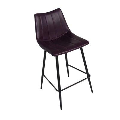 Markie 26 Bar Stool Upholstery: Purple