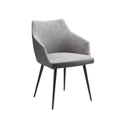 Verena Upholstered Dining Chair Upholstery: Gray