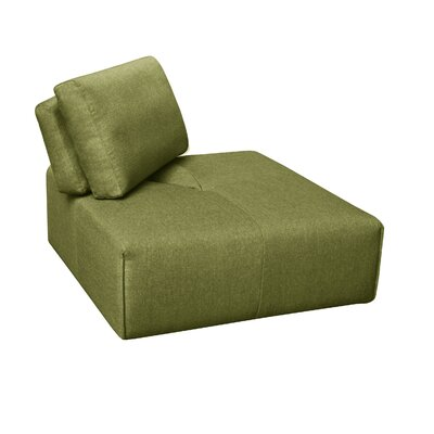 Rembert Corner Ottoman Upholstery: Green