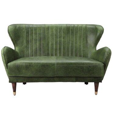 Kait Leather Loveseat Sofa