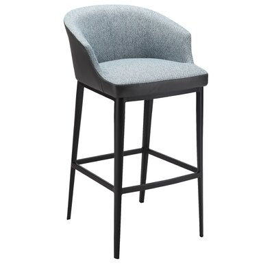 Verena 29.5 Bar Stool Upholstery: Blue