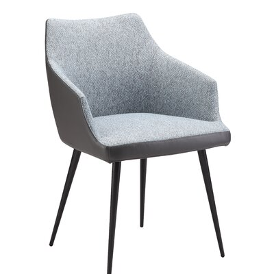 Verena Upholstered Dining Chair Upholstery: Blue