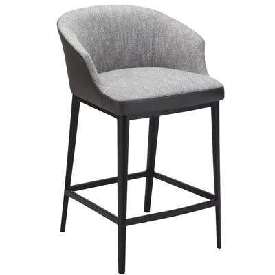 Verena 25.5 Bar Stool Upholstery: Gray