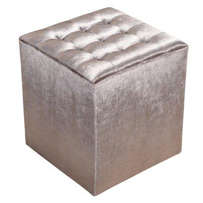 Fiona Cube Ottoman Upholstery: Gray