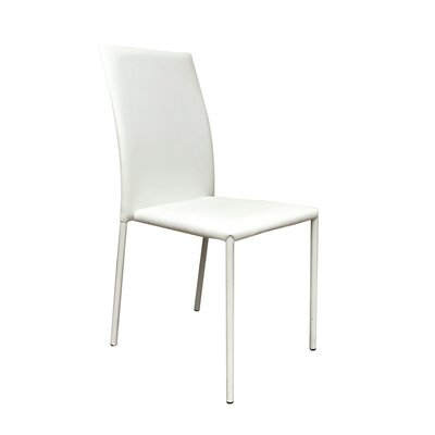 Bosque Upholstered Dining Chair Upholstery Color: White