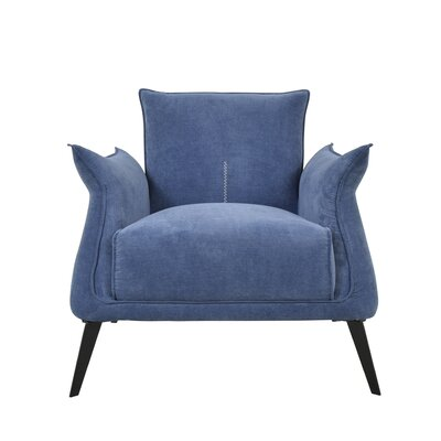 Ellington Circle Armchair Upholstery: Blue