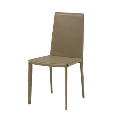 Lynn Genuine Leather Upholstered Dining Chair