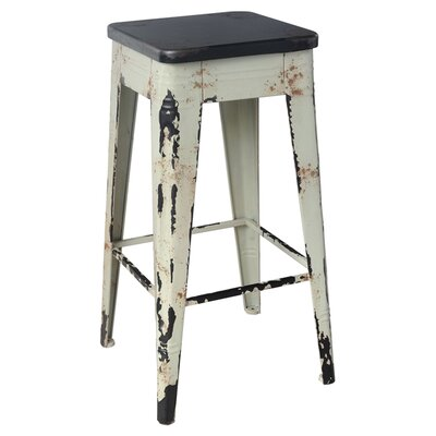 Millie 29.5 Bar Stool Frame Finish: White