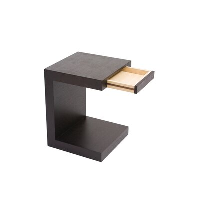 No credit financing Zio End Table Finish: Black...