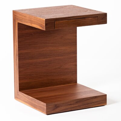 In store financing Zio End Table Finish: Walnut...