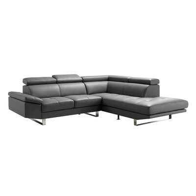 Andreas Sectional Upholstery: Grey, Orientation: Right Hand Facing