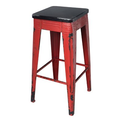 Millie 29.5 Bar Stool Frame Finish: Red