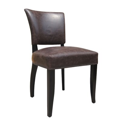 Vidar Side Chair Upholstery: Brown