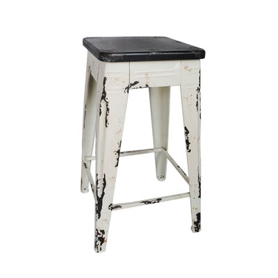 Mila 26 Bar Stool Frame Finish: White