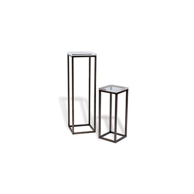 Drake Lucite 2 Piece Nesting Tables Color: Bronze
