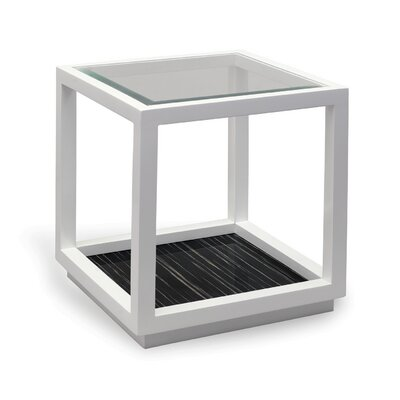 Dylan End Table Color: White/Black