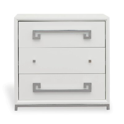 Hancock 3 Drawer Chest Color: White