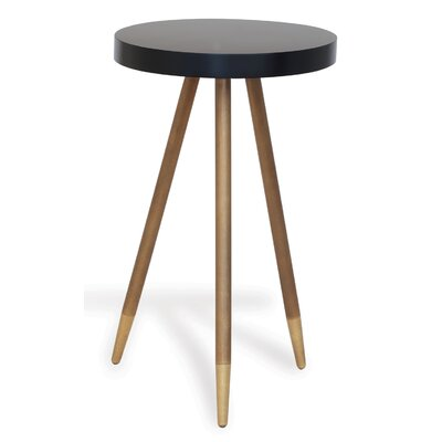 Carter End Table Finish: Black/Brass