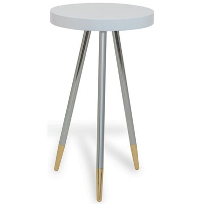 Carter End Table Finish: White/Nickel