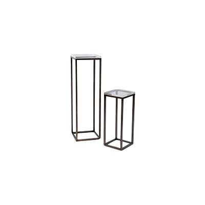 Drake Lucite 2 Piece Nesting Tables Finish: Bronze
