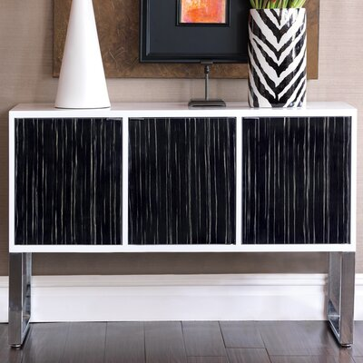 Dylan Console Table Finish: White/Black