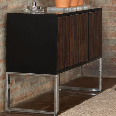 Dylan Console Table Finish: Black/Brown