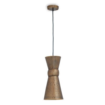 Easton 1-Light Mini Pendant Finish: Brass