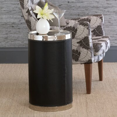 Patrick Tray Table Color: Nickel/Black