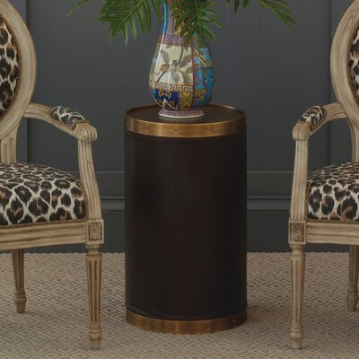 Patrick Tray Table Color: Brass/Brown